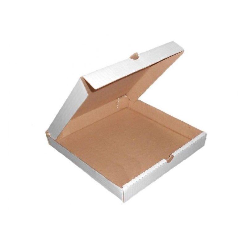 Коробка д/пиццы  бел-кор м/гофрокарт 400х400х40 (50)