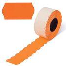Этикет-лента 26х12 МЕТО большая универсальная (волна) оранжевая (200)