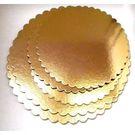 Подложка картон усиленная D260мм 3,5мм золото-черный