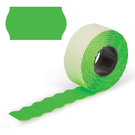 Этикет-лента 26х12 (волна) зелён. 800эт (180)