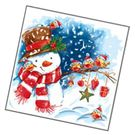 Салфетки 2сл 33х33см Bouquet Original Акварельный снеговик 20шт (15)