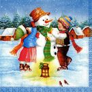 Салфетки 2сл 33х33см Bouquet Original Девочка и снеговик 20шт (15)