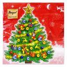 Салфетки 2сл 33х33см Bouquet Original Новогодняя ель на красном 20шт (15)