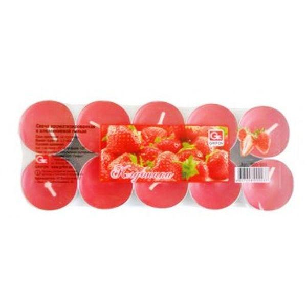 Свечи чайные GRIFON Клубника , 20 шт. в ПЭ (12) 800-003