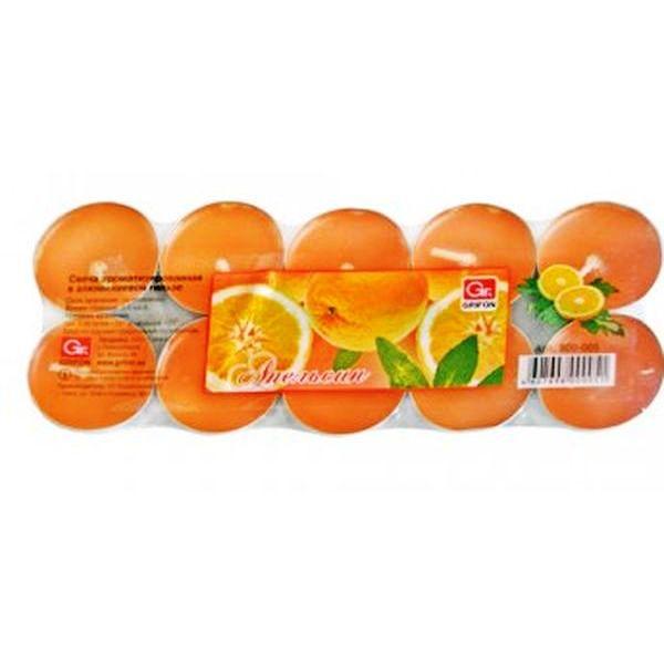 Свечи чайные GRIFON Апельсин , 20 шт. в ПЭ (12) 800-005