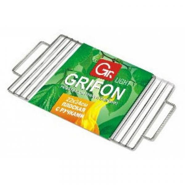 Решётка плоская GRIFON с ручками  Light, 36х24см 1/24 610-002