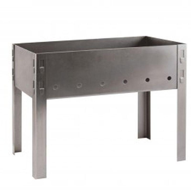 Мангал сборный GRIFON, 38*24*30см в коробке, сталь 1мм 1/8шт 610-020