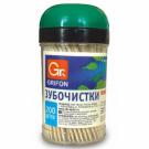 Зубочистки GRIFON в пл. банке  200шт (4/240) 400-003