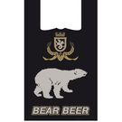 Пакет-майка 30+16х60 14мкм чер.Медведь с печатью (100/1000) СП