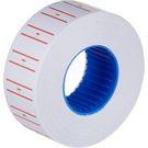 Этикет-лента  МНК прям белая с красной полосой 21,5х12 (270)