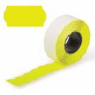 Этикет-лента 26х12 МЕТО большая универсальная (волна) желтая (200)