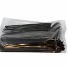 Трубочка для кокт. с изгибом 21 см черная (250/12000)