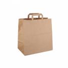 Пакет-сумка крафт 35+15х45см б/п с плоскими ручками (200/1)