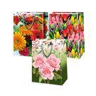 Пакет подар. лам L 26х13х33см Микс Цветы №7 (240)