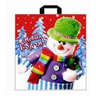 Петл. ручк. 40х42 НГ Подарок снеговика (500) 45мкм