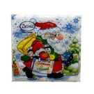 Салфетки 25х25см Design Дед Мороз с подарками 40шт (105)