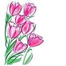 Салфетки  25х25см Bouquet Elegant Розовые тюльпаны 100шт/уп (45)