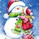 Салфетки 3сл 33х33см Art Bouquet Девочка и снеговик 20шт (12)
