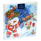 Салфетки 3сл 33х33см Аrt Bouquet Акварельный снеговик 20шт (12)