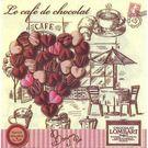 Салфетки 3сл 33х33см Art Bouquet Шоколадное сердце 20шт (12)