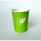 Стакан 250мл под гор.напитки Зелёный с печатью (50/1000) ЛП