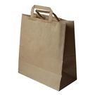 Пакет-сумка крафт 32+20х37см б/п с плоскими ручками (225)
