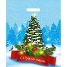 Пакет с пр руч 35мкм, 36х43см НГ Снегири на елке (50/1000)