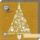 Салфетки 3сл 33х33см Bouquet Home Collection GOLD Новогодняя ель 20шт (12)
