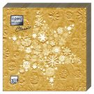 Салфетки 3сл 33х33см Bouquet Home Collection GOLD Снежинка 20шт (12)