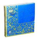 Салфетки 3сл 33х33см Bouquet Home Collection Новогодняя скатерть Золото на синем 20шт (12)