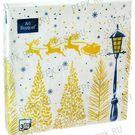 Салфетки 3сл 33х33см Art Bouquet Золотой лес 20шт (12)