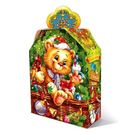 Коробка картон(гофро) 2,5 кг НГ Новогодняя корзина 222х96х295/370 (55)