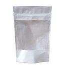 Пакет дойпак бум.белый с ЗИП замком и прозр окном 70мм 120х185+(30+30) гладкий