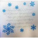 Салфетки бум.белые 1сл 24х24 Мороз и солнце НГ 90л (30пачек/уп)